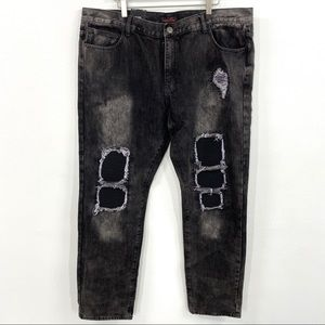 Embellish NYC Black Distressed Ripped Jeans NWT